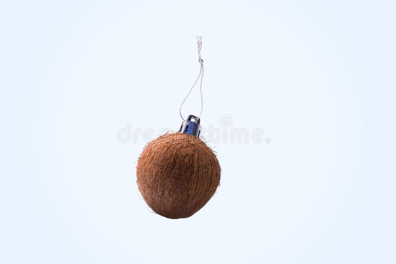 Coconut christmas toy royalty free stock photo