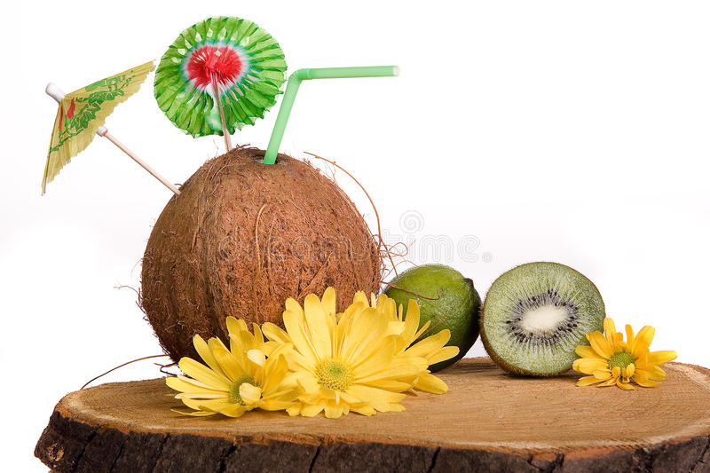Download Coconut cocktail stock image. Image of holidays, fruit - 14289307