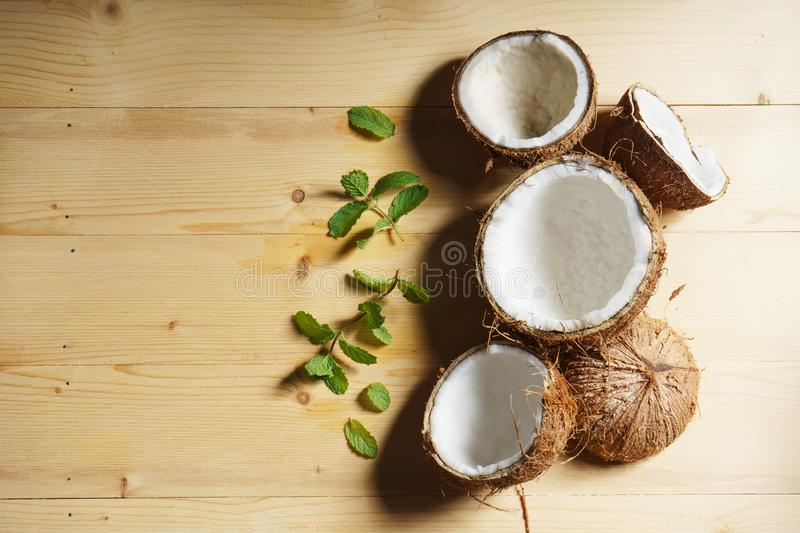 Download Coconut stock photo. Image of cracked, mint, palm, healthy - 93928278