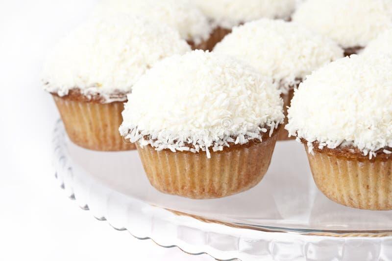 Coconut cupcake royalty free stock photos