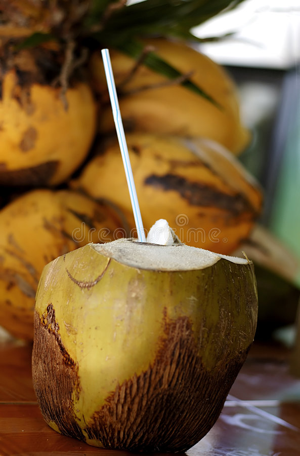 Coconut drink stock photography