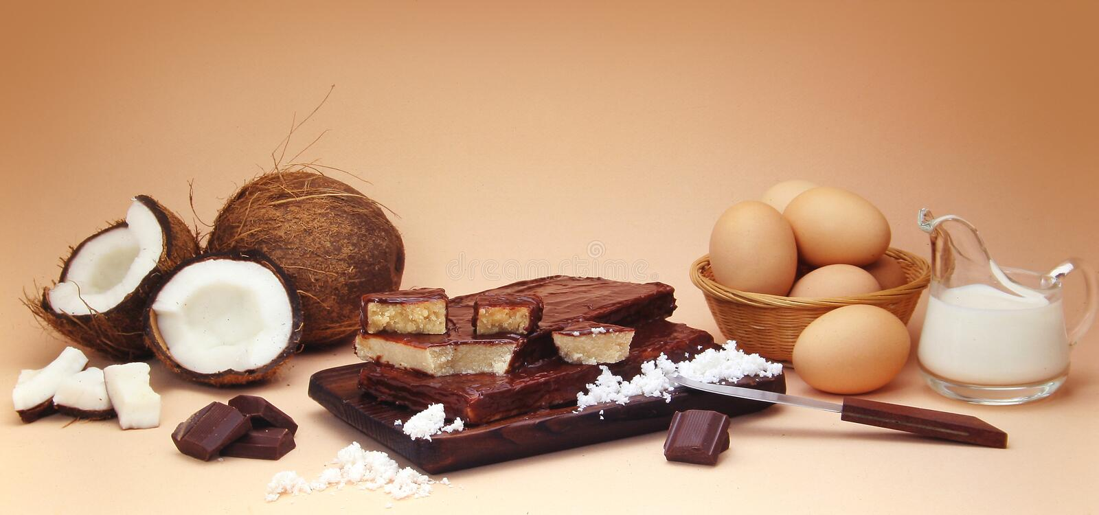 Download Coconut Fudge Composition With Ingredients Stock Image - Image: 881585