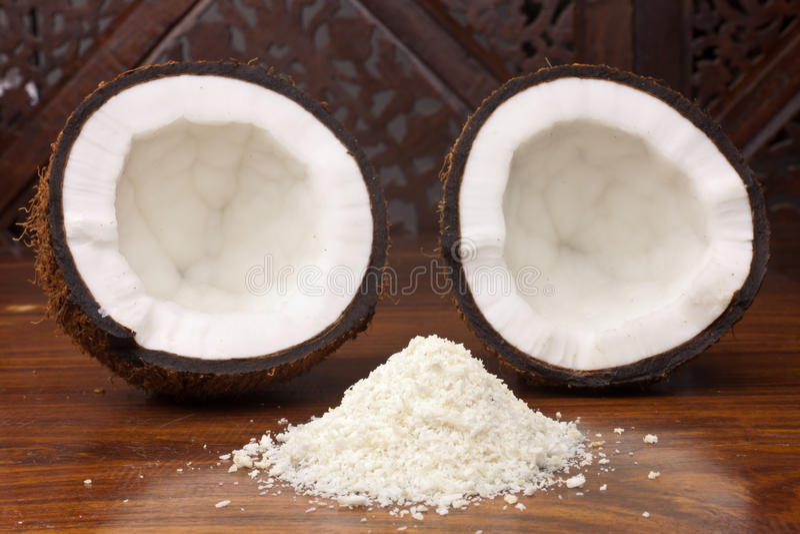 Coconut Halves royalty free stock photo