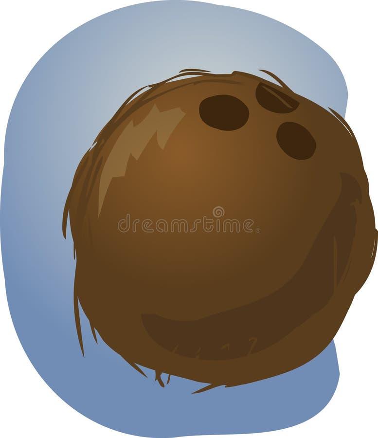 Coconut illustration royalty free illustration