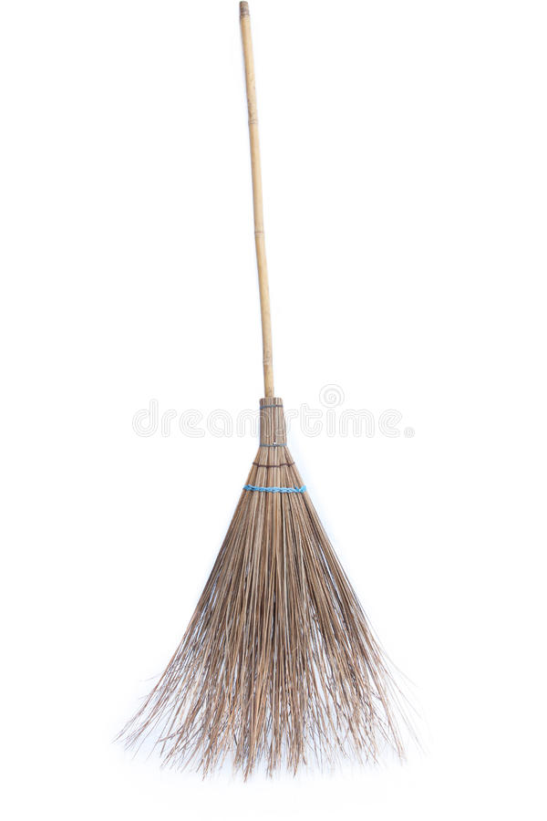 Download Coconut Leaves Broom Isolated On White Background Stock Photo - Image: 22234186