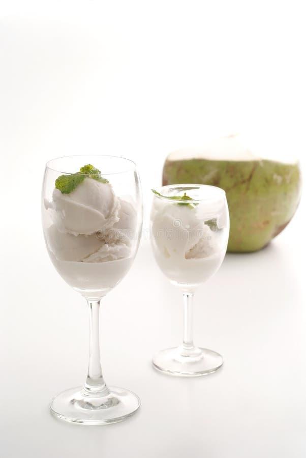 Coconut milk ice cream 1 royalty free stock image