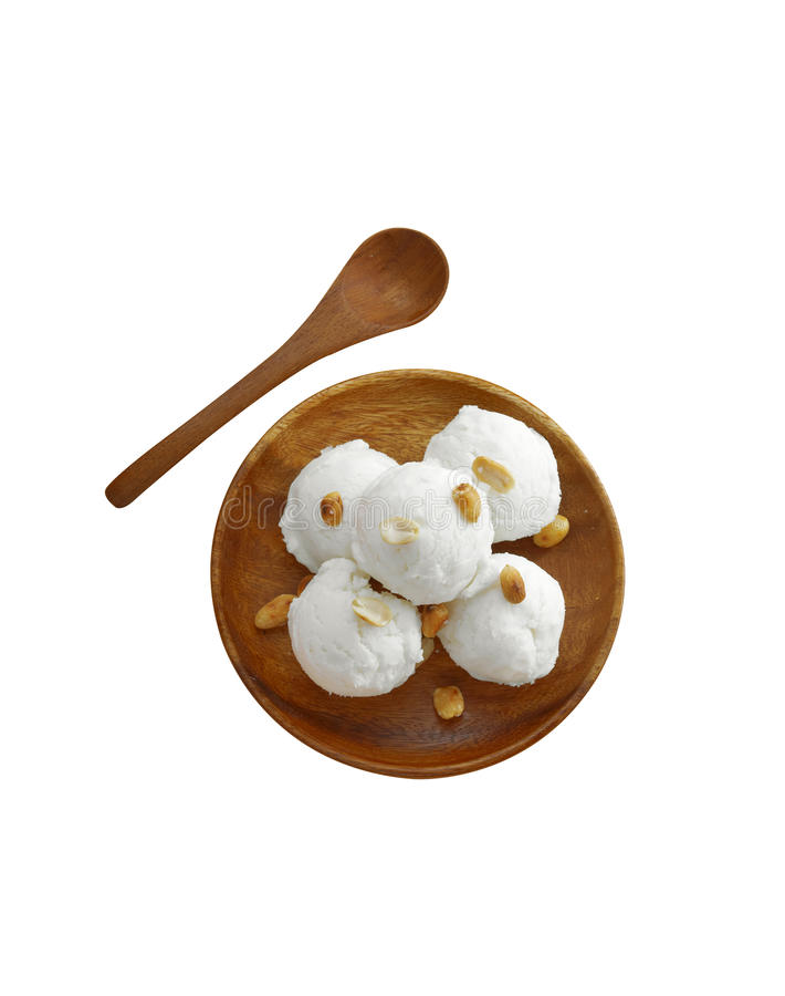 Coconut and milk icecream royalty free stock image