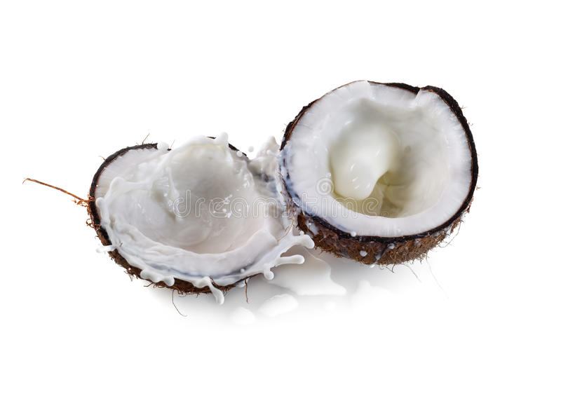 Coconut with milk royalty free stock image
