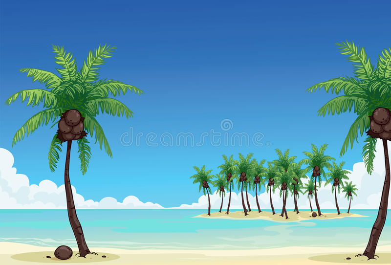 Download Coconut palm stock illustration. Image of indonesia, serene - 26001337