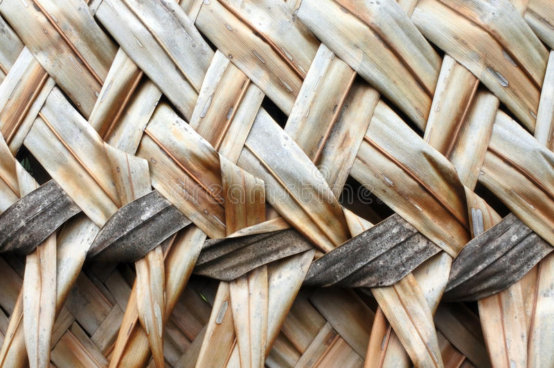 Coconut Palm leaves weaving backgroun royalty free stock image