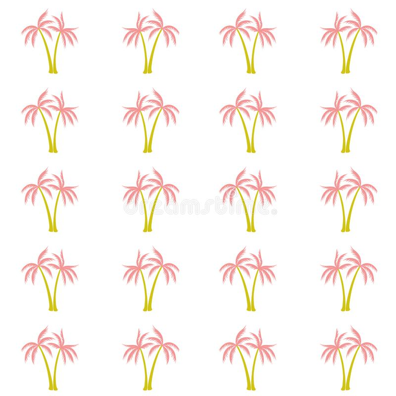 Coconut palm tree pattern textile material tropical forest background. royalty free illustration