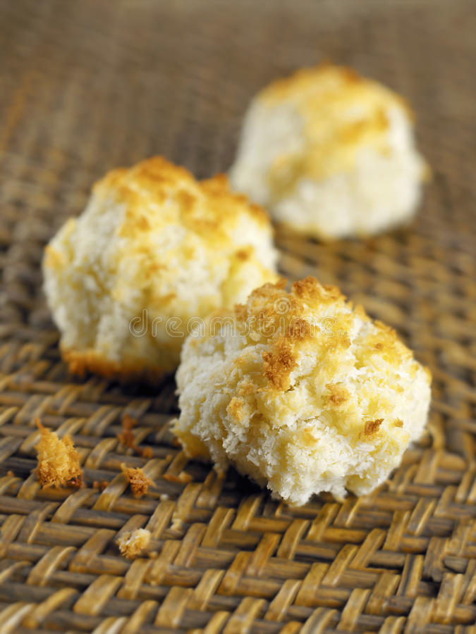 Coconut Rochers. Food, gastronomy,culinary,cookery royalty free stock images