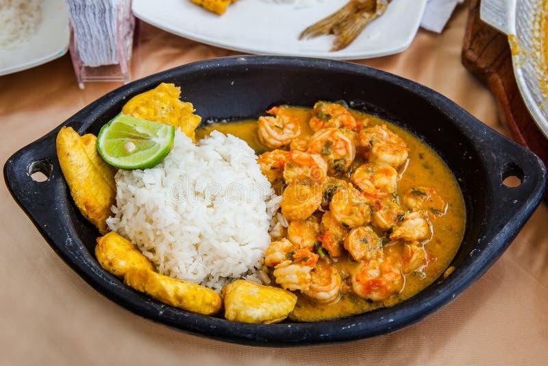 Coconut shrimp stew stock photos