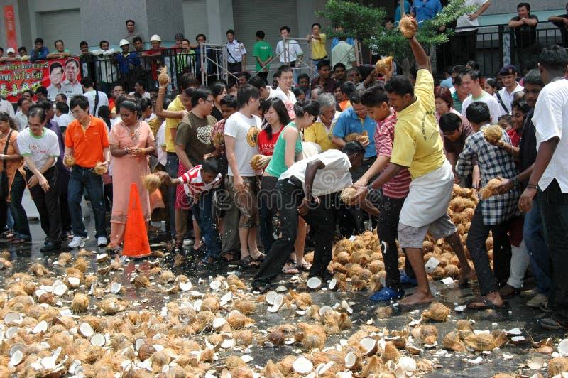Download Coconut Smashing Editorial Photo - Image: 17612006