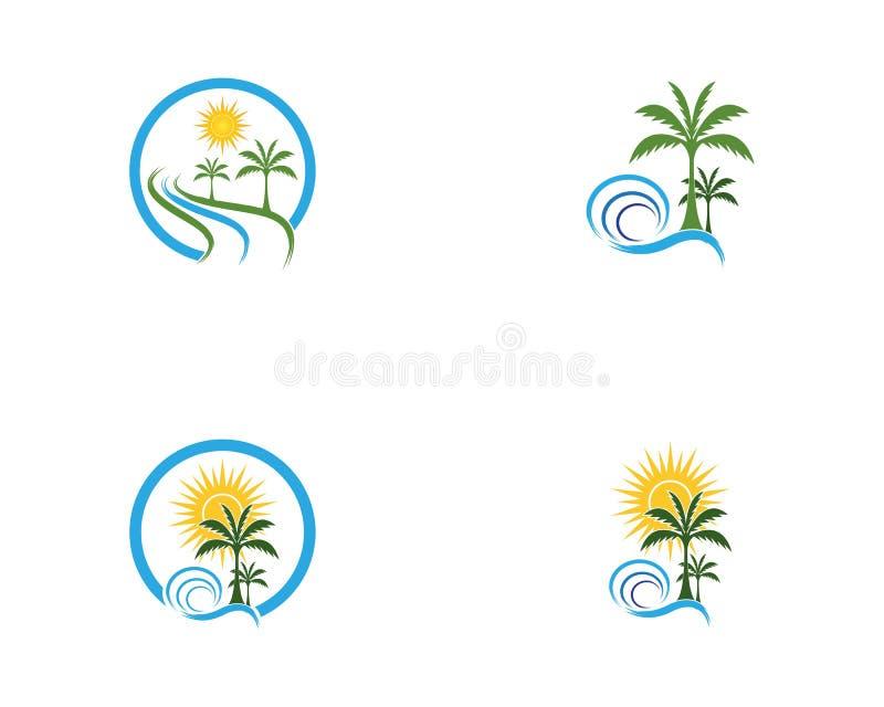 Coconut tree logo vector.  royalty free illustration