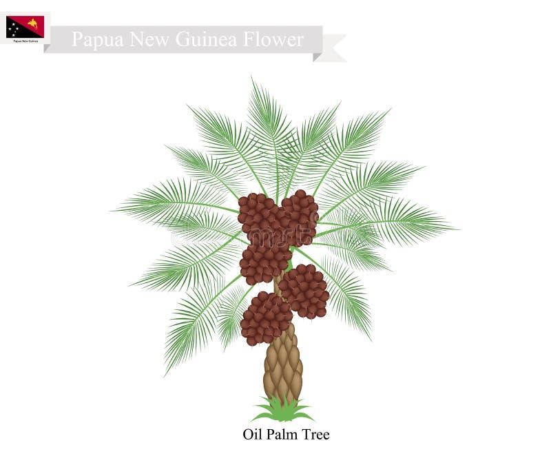 Coconut Tree, A Native Tree of Papua New Guinea. Papua New Guinea Tree, Illustration of Coconut Tree. The Native Tree of Papua New Guinea vector illustration