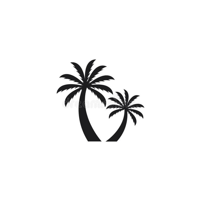 Coconut tree summer logo template vector icon illustration vector illustration