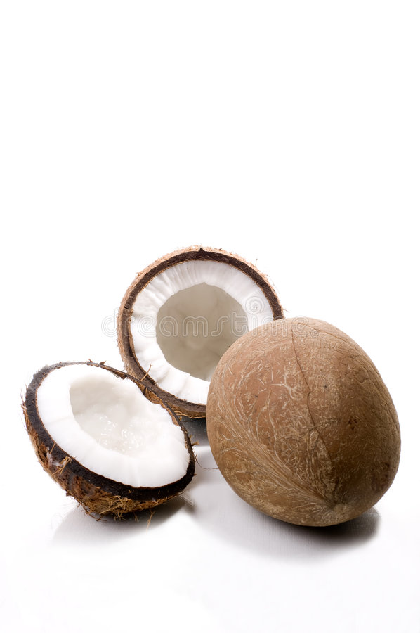 Download Coconuts stock image. Image of coco, white, isolated, broke - 5977281