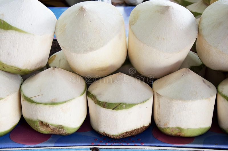 Download Coconuts With Juice Inside. Stock Image - Image: 30452775