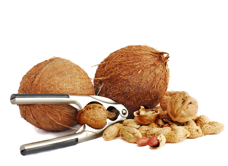 Download Coconuts,peanuts And Walnuts Stock Photo - Image: 12677592