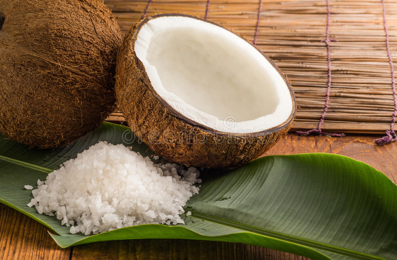 Download Coconuts With Sea Salt Stock Photo - Image: 42280812