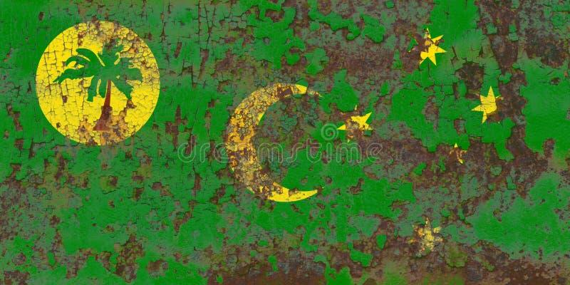 Cocos flagga för Keeling ögrunge, Australien anhörigterritor fotografering för bildbyråer
