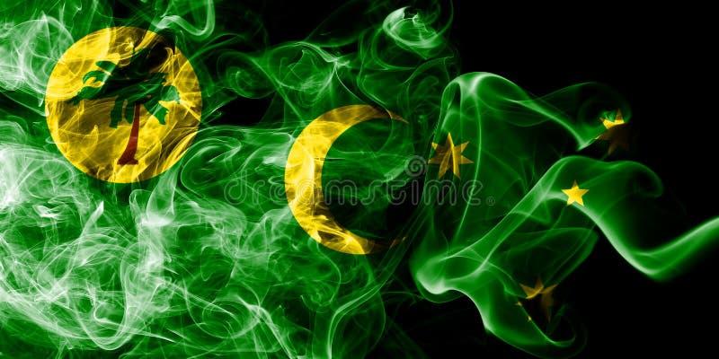 Cocos Keeling öar röker flaggan, Australien beroende territoriumflagga royaltyfri illustrationer