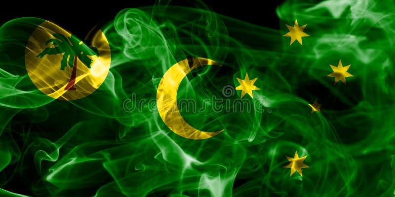 Cocos Keeling öar röker flaggan, det Australien anhörigterritoriet stock illustrationer