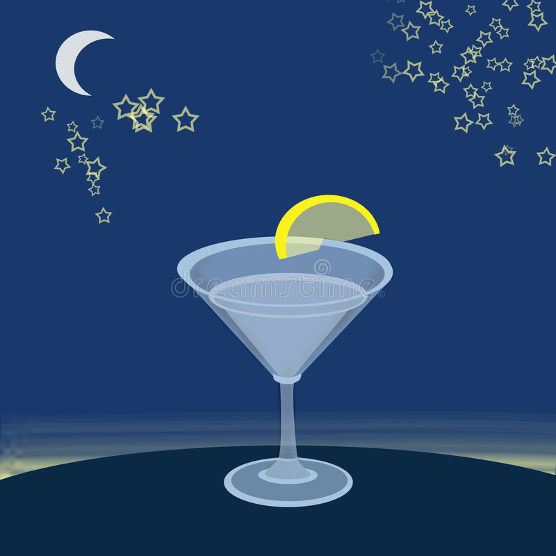 Download Coctail stock illustration. Illustration of glass, stars - 1465191