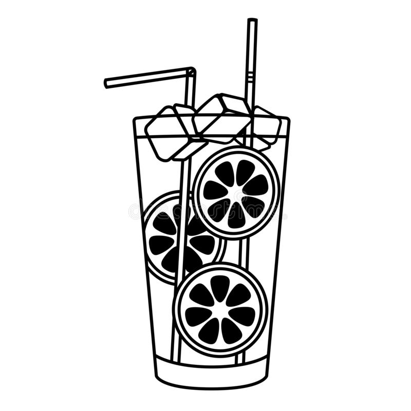 Cocktail simple icon stock illustration