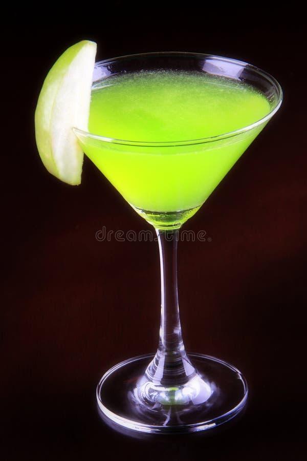 Coctail - Apple martini (Appletini) arkivfoto