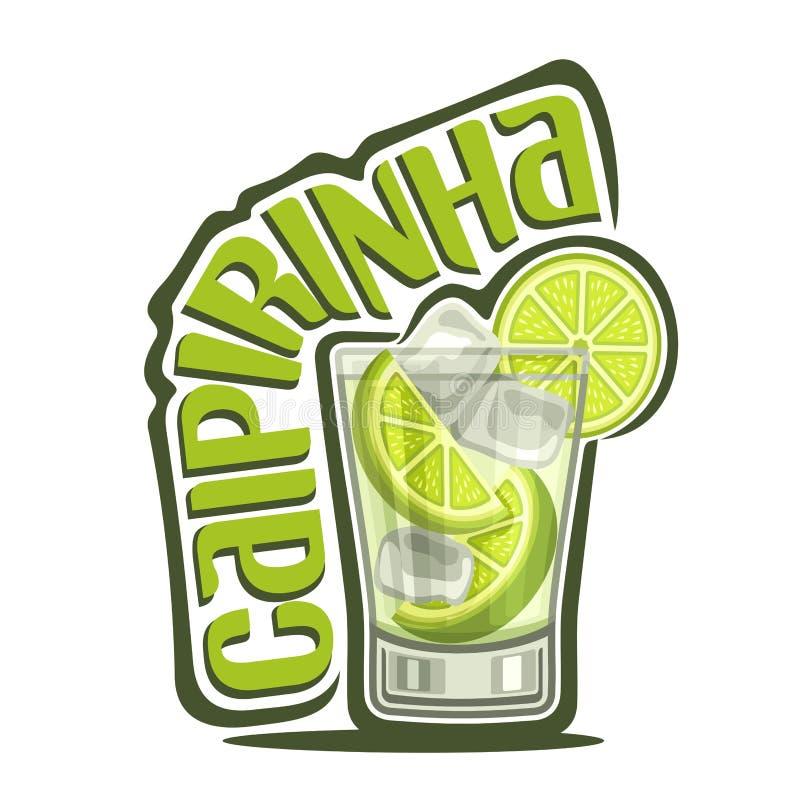 Coctail Caipirinha stock illustrationer