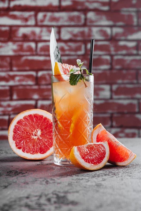 Coctail de limonade de pamplemousse photo stock