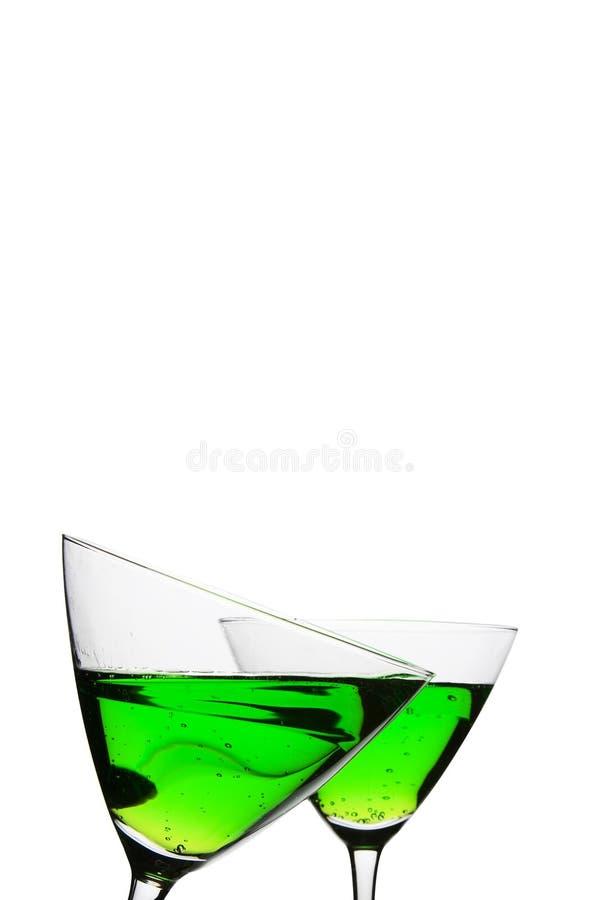 coctail glasesses δύο στοκ εικόνα με δικαίωμα ελεύθερης χρήσης