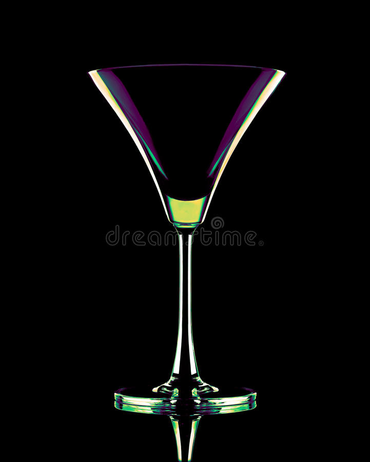 Download Coctail Glass In Neon Colors Stock Image - Image: 24129703