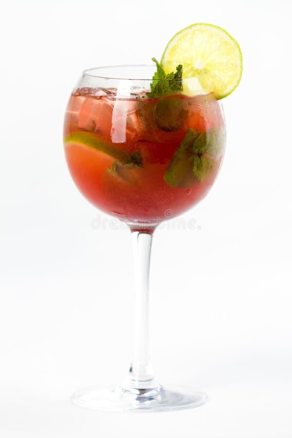 Coctail med limefrukt arkivbild