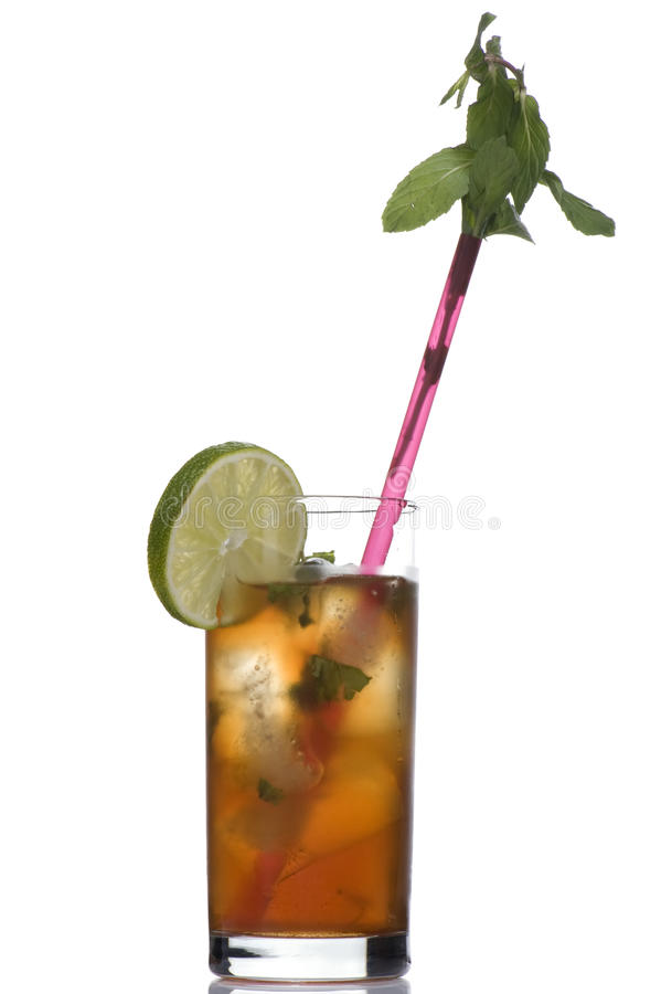 Coctail With Mint In Straws Stock Image