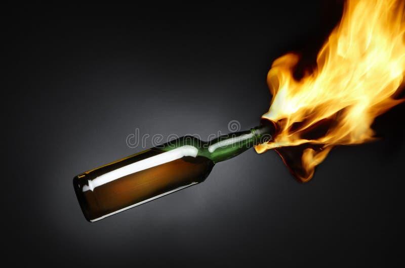 coctail molotov arkivfoton
