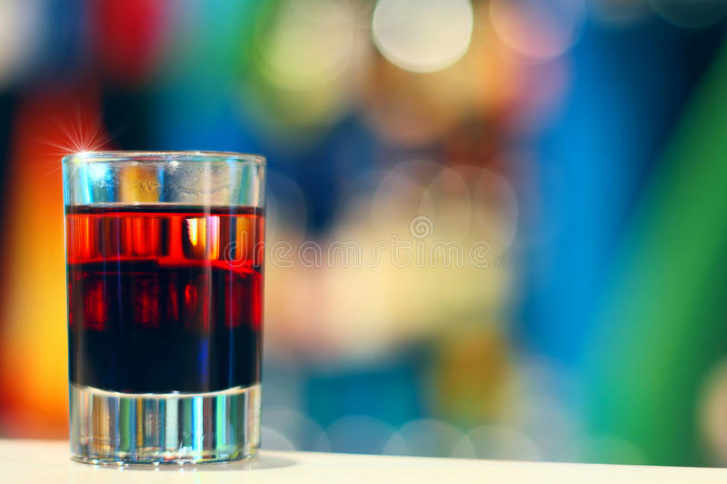 Coctail in nightclub royalty free stock image