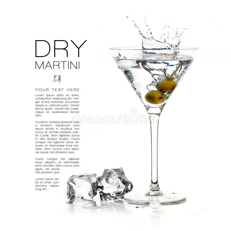 coctail torra martini färgstänk malldesign arkivbild