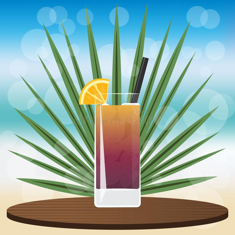 coctailen iced lång tea för ön vektor illustrationer