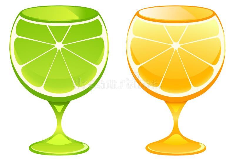 coctailexponeringsglas stock illustrationer