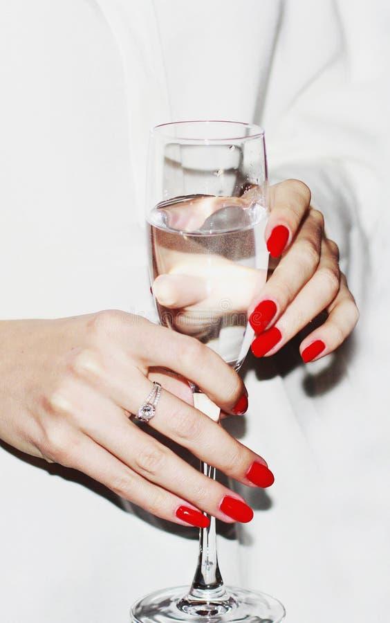 Coctailpartij met een glas champagne royalty-vrije stock foto