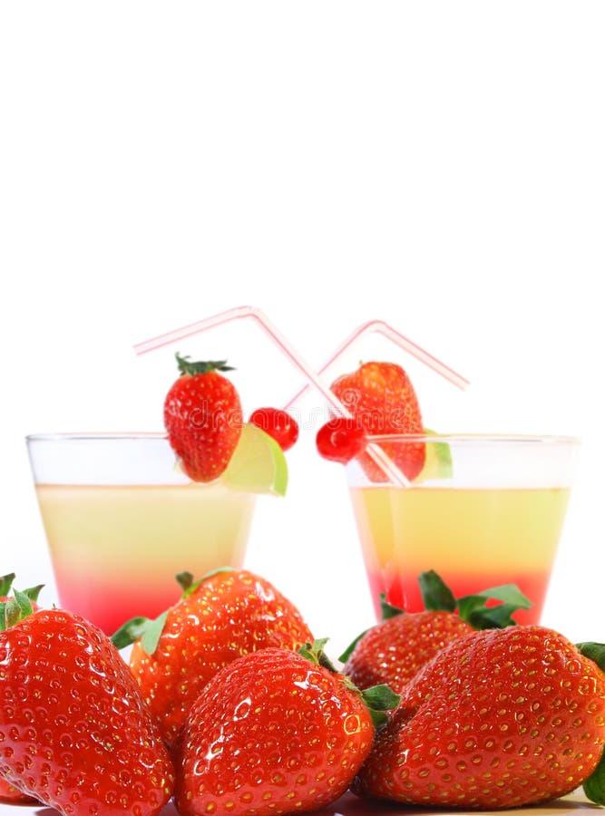 Coctails et fraises photo stock