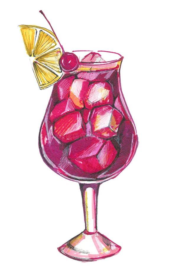 Coctel alcohólico libre illustration