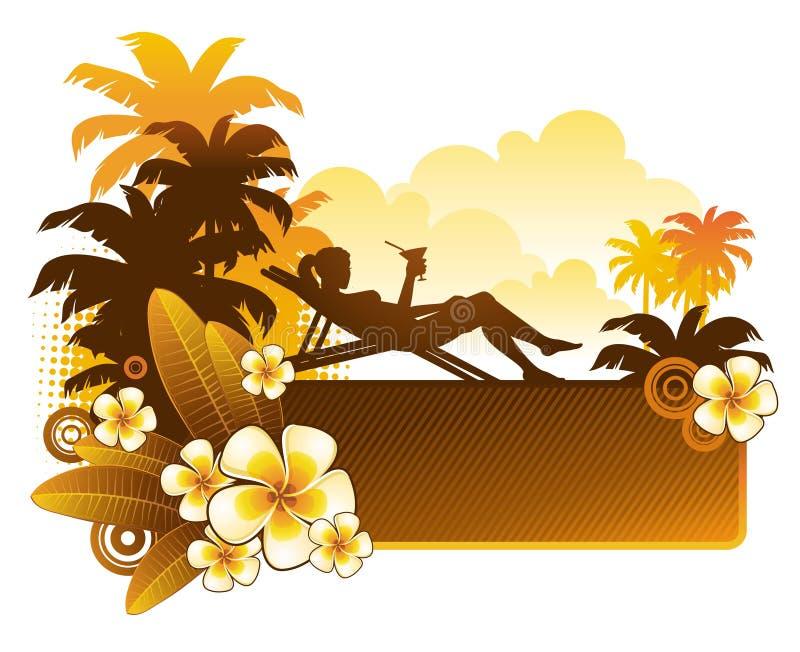 Coctel de la tarde stock de ilustración