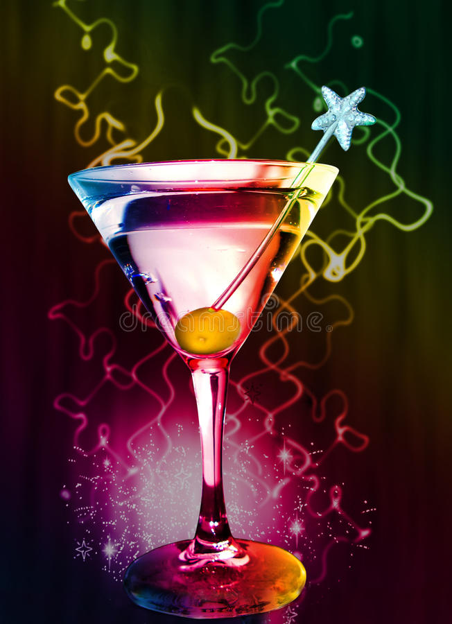 Coctel de Martini foto de archivo libre de regalías