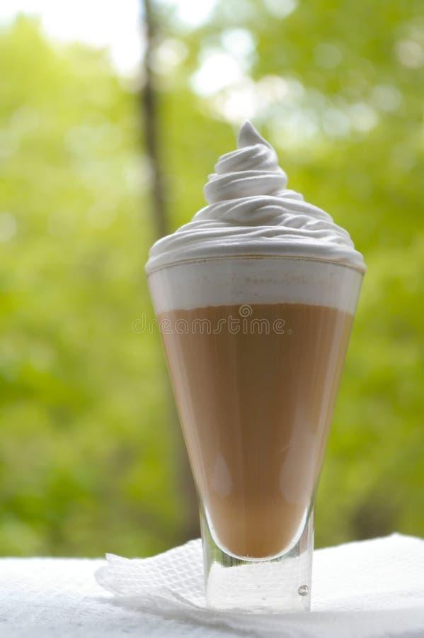 Coctel del café con leche imágenes de archivo libres de regalías