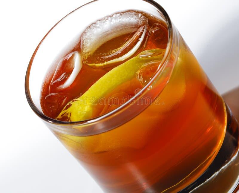 Coctel del whisky fotografía de archivo libre de regalías