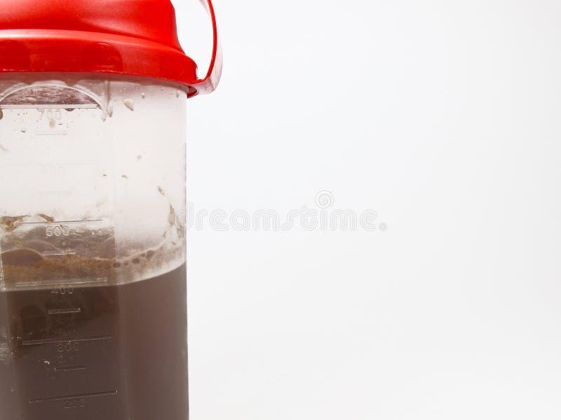 Coctelera de la proteína foto de archivo